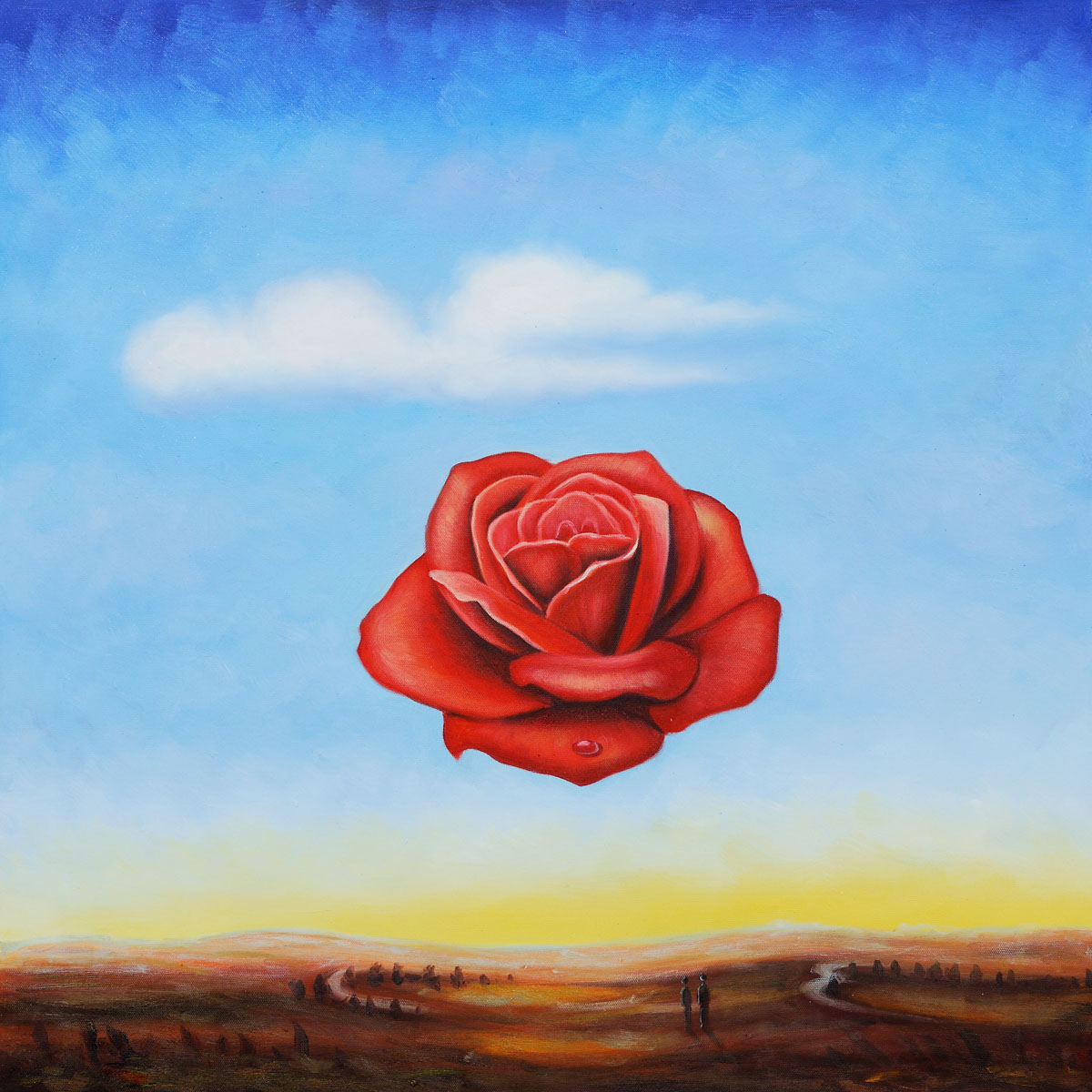 The-Meditative-Rose-by-Salvador-Dali