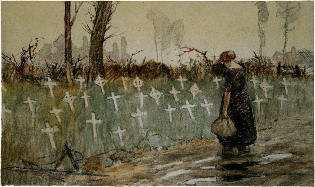 George Edmund Butler - A roadside cemetery near Neuve Eglise