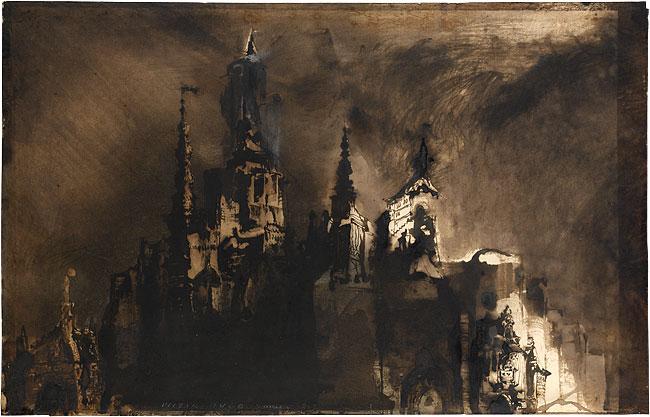 Château fantastique au crépuscule, 1857