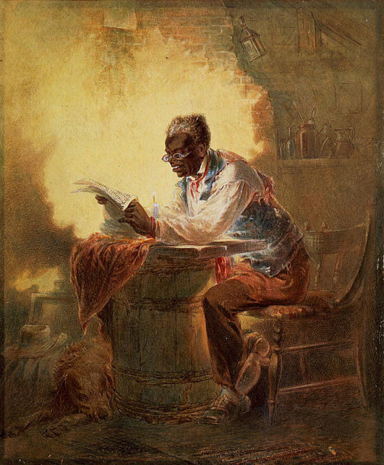 A black man reads of the Emancipation Proclamation - H.L.Stephens