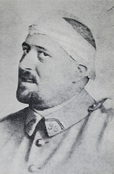 Photograph of Guillaume Apollinaire in spring 1916 after his shrapnel wound to the temple.