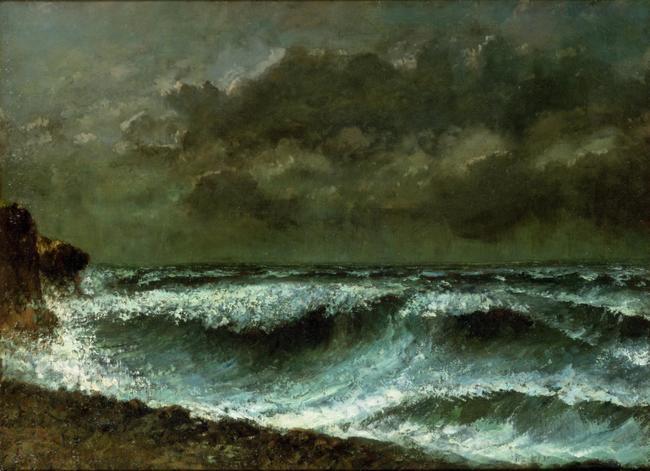 Gustave Courbet - Avant de tempête à l'horizon
