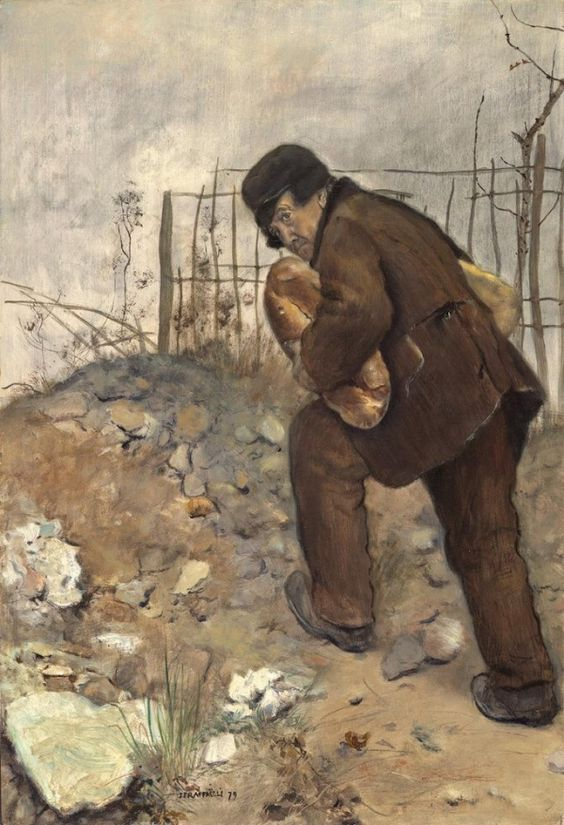 L'homme aux deux pains (Man with two loaves of bread), Jean-François Raffaelli