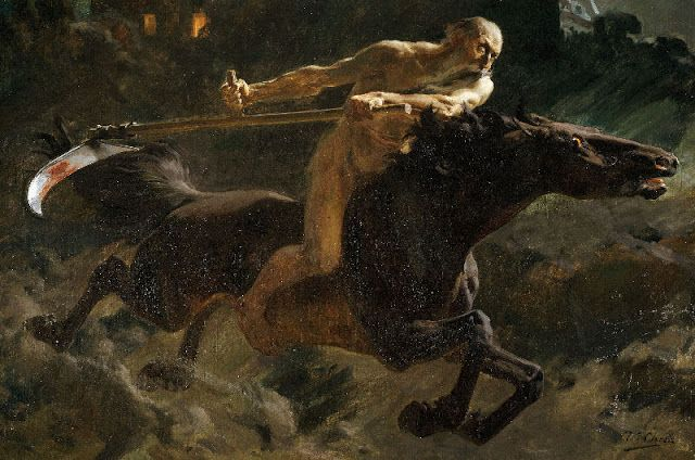 Ulpiano Checa y Sanz (1860-1916) - Horseman of the Apocalypse