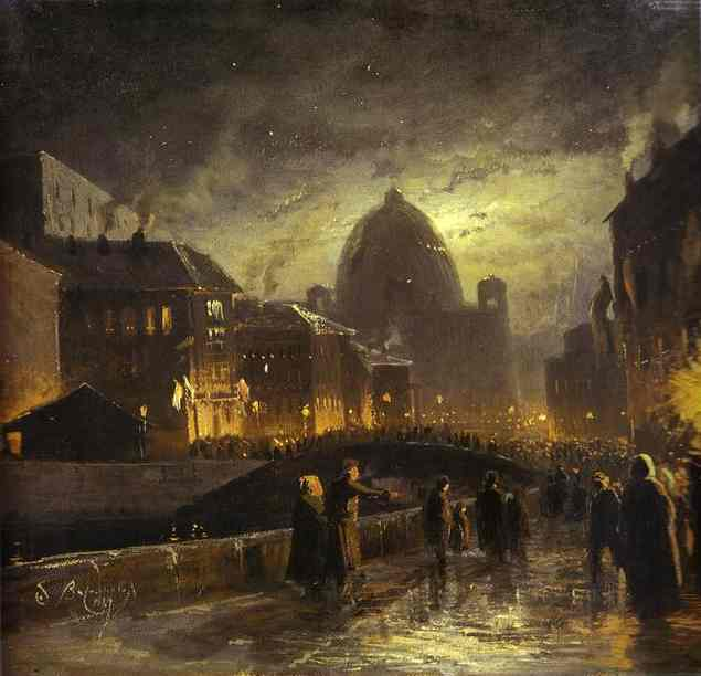 Vasilyev -Illumination in St. Petersburg. 1869
